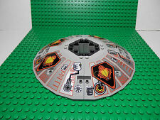 LEGO Complete 5 piece Saucer Assembly UFO Pattern Light Gray 6-1/4 in Diameter