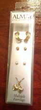 SALE!! Almay Hypoallergenic Variety Earrings, Four Pairs, Fashion Jewelry