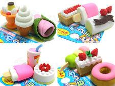 IWAKO Japanese Eraser Mix-Picked 12 Pieces - Wagashi , Cakes , Ice Cream - Japan