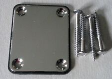 PIASTRA NECK PLATE 51X64 MM CROMATA CON PLASTICA NERA E 4 VITI