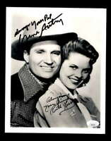 Gene Autry Ruth Terry JSA Coa Hand Signed 8x10 Photo Autograph