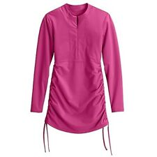 Athleta Flare Pink Ruched Guard XXS NEW Sun Protection UPF 50+