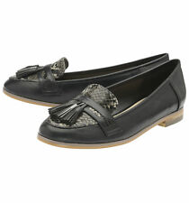 LADIES DOLCIS TULLY BLACK SYNTHETIC LEATHER FLAT FLATS LOAFERS SHOES UK 7