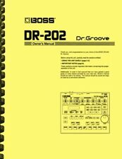 Boss DR-202 Dr. Groove OWNER'S MANUAL