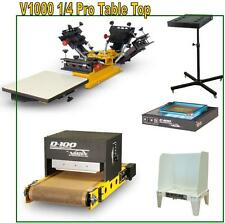 Vastex V-1000 Screen Printing Press 4 Station/ 4 Color Start Up Shop & Supplies