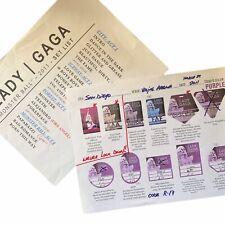 Lady Gaga The Monster Ball Tour Set List + Credential Sheet San Diego 2011