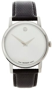 Movado Museum Stainless Steel Leather Band 40mm Men's Watch MO.01.1.14.6000