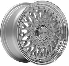 "15"" Silver BSX Alloy Wheels Fits Bmw E30 Fiat Punto Evo Grande Punto 4x100"