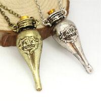 Retro Harry Potter Felix Felicis Potion Bottle Pendants Necklace Charms Jewelry