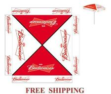 BUDWEISER 9 foot BEER UMBRELLA MARKET PATIO STYLE NEW HUGE BUD