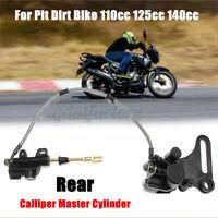Rear Foot Brake Calliper Master Cylinder For 110cc 125cc 140cc Pit Dirt Bike ATV