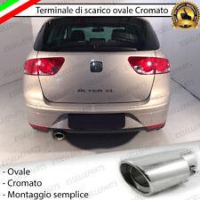 TERMINALE SCARICO CROMATO LUCIDO OVALE ACCAIO INOX SEAT ALTEA SCARICO SINGOLO