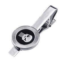 Men's Metal Fashion Skull Head Tie Pin Bar Clasp Clip Silver Color 1PC