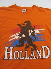 HOLLAND Dutch Netherlands Coat Of Arms Vacation Souvenir T Shirt Size L
