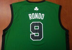 Adidas NBA Boston Celtics Basketball Rajon Rondo Authentic On Court Jersey 2XL