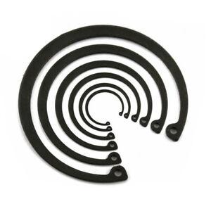 Select Ф7mm - Ф200mm Internal Retaining Rings Circlip Snap Ring 65MN Black Steel