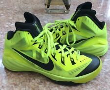 NIKE Hyperdunk 2014 Men's Volt/Black Basketball Sneakers Size 8 #653640-700 EUC!