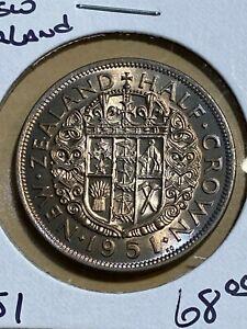 1951 New Zealand Half Crown!!