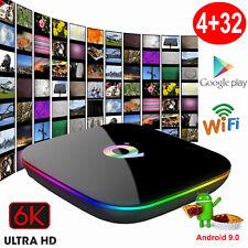 Q plus 6K 4+32G Android 9.0 Pie Smart TV Box Quad Core WIFI USB MINI PC Movies