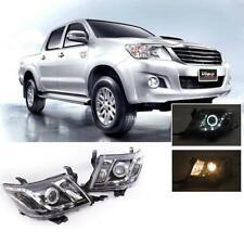 Fit Toyota Hilux Vigo Champ KUN 12 - 14 LED Projector Angle Eye Head Light Pair
