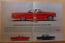 1962 double page magazine ad for Mercury - Comet, fun & sun cars for 1963