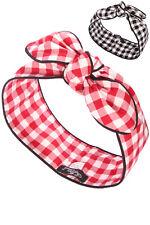 Setrino® Haarband zweiseitig Punkte Würfel schwarz Rockabilly Pin up extra breit