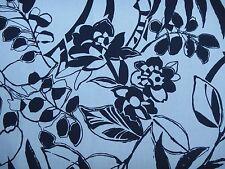 "Ralph Lauren Tela De Cortina ""Westinghouse Floral"" 2.1 metros vestido blanco (azul Marino)"