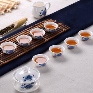Chinese KungFu Tea Set Drinkware Ceramic Tea Pot Cup Tureen Gift Packing Pottery