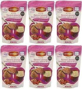 Linwoods Flaxseed Nuts & Q10 - 200g (Pack of 6)