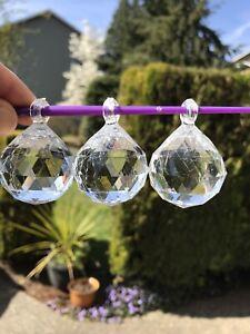 60Clear Hanging Pendants Wedding Decor Suncatcher Ball Sphere Acrylic Like Glass