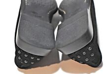 Tod's Womens black leather loafer shoes size 6.5 made in Italy