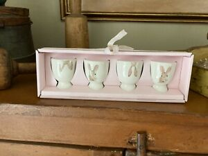 Rae Dunn - Box or 4 - Rabbit / Bunny Easter Egg Cups / Holders - NIB