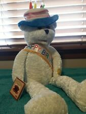 Vintage Chantilly Lane Singing Happy Birthday Teddy Bear PBC Int. NOS NWT