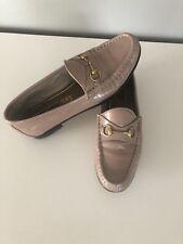 """Gucci - Loafer """"Vernice"""" aus altrosafarbenen Leder, Gr.38.5, getragen"""