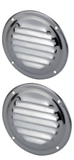 2 Air Vent for Caravan Boat RV Wall Cupboard Stainless steel round air vents x 2
