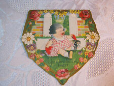 """Embossed Valentine """"You Broke My Heart"""" Antique Card T*"""