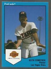 1989 ProCards Keith Comstock Las Vegas Stars ESPN!!! BLOOPER HOT CARD VIRAL!! Z3