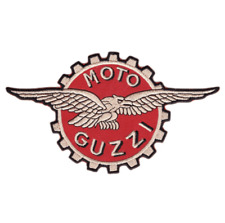 Moto Guzzi Patch Iron Embroidered Logo Badge Motorcycle Motorcycles Sign Racing