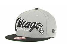Chicago White Sox MLB New Era 9Fifty GRAY/BLACK Adjustable Strapback Cap Hat
