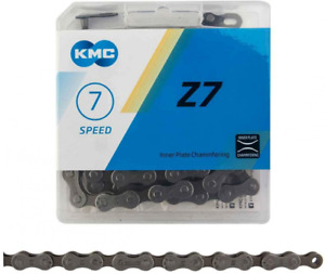 KMC, Z7, Chain, Speed: 6/7/8, 7.3mm, Links: 116, Grey Silver