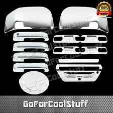 2015 Ford F-150 4Drs+Base Plate+Mirror+Tailgate W/Sensor+Gas Fuel Chrome Covers
