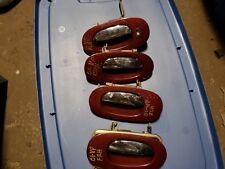 1998 1999 2000 2001 02 2003 JAGUAR VANDEN PLAS SET 4PC EXTERIOR DOOR HANDLES RED