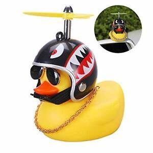 Car Duck with Helmet Broken Wind Small Yellow Duck Road Bike Motor Helmet Riding