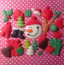Edible Icing CHRISTMAS DECORATIONS SANTA CLAUS Sugar paste Cupcake topper
