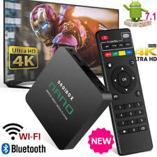 2018 NANO Quad Core Android 7.1 TV Box 4K HD Pro Media Player 17.6 WIFI HDMI NEW