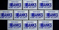6 BANKS SECURITY....... WINDOW DECALS