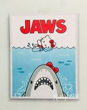 "Exclusive Universal Studios x Hello Kitty Jaws Movie Poster Art Print 14"" X 11"""