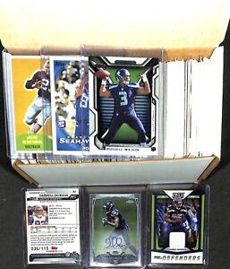 Lot of 300+ Seattle Seahawks Football Cards_Stars_Rookies_AUTO_Stocking Stuffer