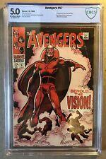 Avengers #57 CBCS 5.0/Key 1st Appearance Vision/Marvel Comic/MCU/like CGC & PGX