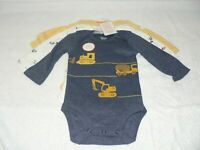Baby Boys' 3pk Construction Bodysuit - Just One You® made by carter's Navy 3M